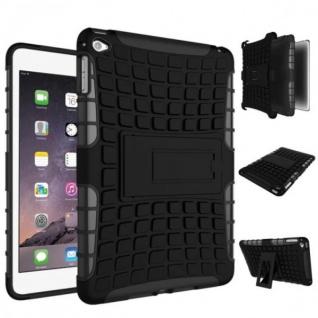 Für Apple iPad Mini 5 7.9 2019 Hybrid Outdoor Tasche Etuis Hülle Cover Schwarz