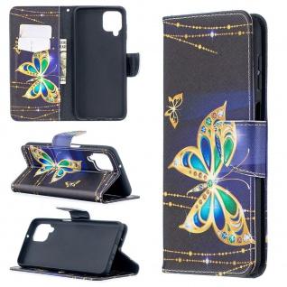 Für Samsung Galaxy A12 A125F Kunst-Leder Handy Tasche Motiv 4 Hülle Case Etuis