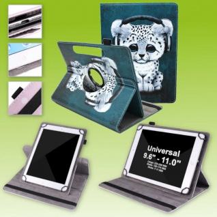 Für Huawei MediaPad M5 Lite 10.1 360 Grad Motiv 18 Tablet Tasche Kunst Leder Neu