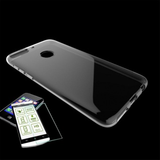 Für HTC Desire 12 Plus Silikoncase Transparent Tasche + 0, 3 H9 2.5 D Glas Hülle