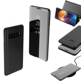 Für Samsung Galaxy S10 G973F 6.1 Zoll Clear View Smart Cover Schwarz Tasche Etui - Vorschau 2