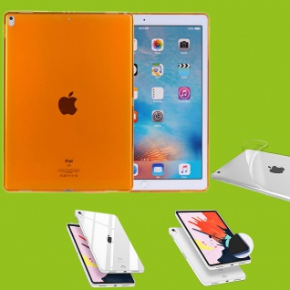 Für Apple iPad Pro 12.9 Zoll 2018 Orange Tasche Hülle Case Cover TPU Silikon Neu