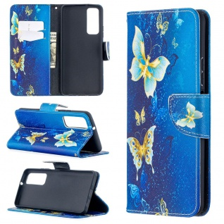 Für Huawei P Smart 2021 Kunst-Leder Handy Tasche Motiv 3 Hülle Case Etuis Cover