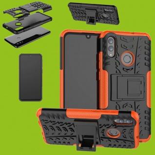 Für Huawei P30 Lite Hybrid 2teilig Outdoor Etui Tasche Hülle Cover Schutz Orange