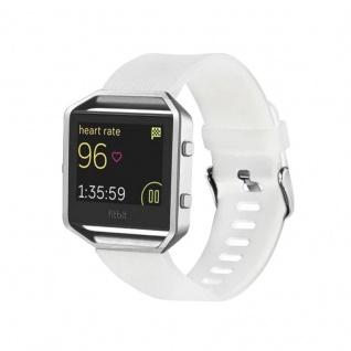 Kunststoff / Silikon Uhr Armband für Fitbit Blaze Watch Weiß Zubehör 17-20 cm