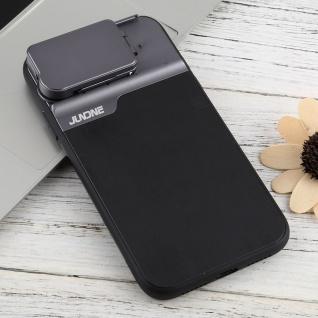 Schutzhülle für Apple iPhone 11 Schwarz + Weitwinkel Teleskop Fisheye Tasche - Vorschau 2