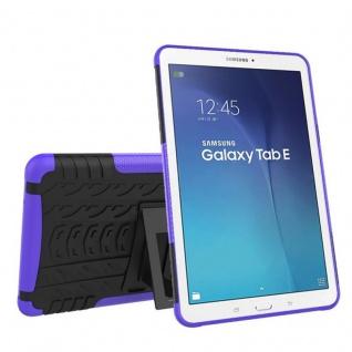 Hybrid Outdoor Schutzhülle Lila für Samsung Galaxy Tab E 9.6 SM T560 Tasche Case
