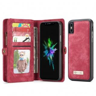 Schutzhülle Handy Tasche f. Apple iPhone X / XS Geldbeutel Schutz Hülle Etui Rot