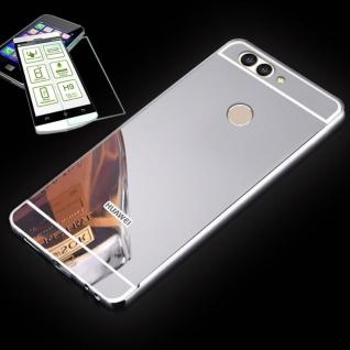 Alu Bumper 2 teilig Silber + 0, 3 H9 Glas für Huawei Nova 2S Tasche Hülle Case