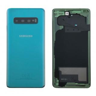 Samsung GH82-18378E Akkudeckel Deckel Ersatz für Galaxy S10 G970F Klebepad Grün
