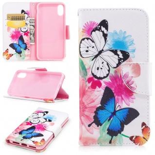 Tasche Wallet Motiv 33 für Apple iPhone X / XS 5.8 Zoll Hülle Case Etui Schutz