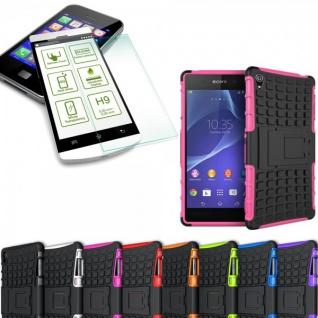 Hybrid Case 2 teilig Pink für Sony Xperia Z3 Plus E6553 / Dual + Hartglas Neu - Vorschau 1