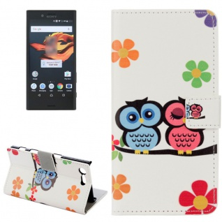 Tasche Wallet Premium Muster 14 für Sony Xperia X Compact F5321 Bookcover Hülle