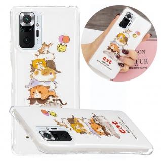 Für Xiaomi Redmi Note 10 Pro Silikon Case TPU Motiv 6 Schutz Hülle Cover Etuis