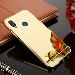 Spiegel / Mirror Alu Bumper 2teilig Gold für Huawei P20 Lite Tasche Hülle Cover