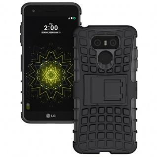 Hybrid Case 2teilig Outdoor Schwarz für LG G6 H870 Tasche Hülle Cover Neu Schutz