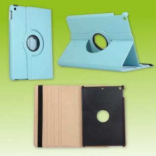 Für Apple iPad 10.2 Zoll 2019 2020 Blau 360 Grad Etui Tablet Tasche Kunst-Leder