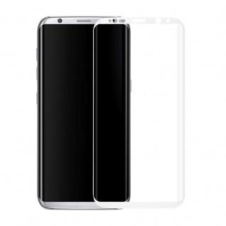 0, 3 mm H9 gebogenes Panzerglas Weiß Folie für Samsung Galaxy S8 Plus G955F Neu