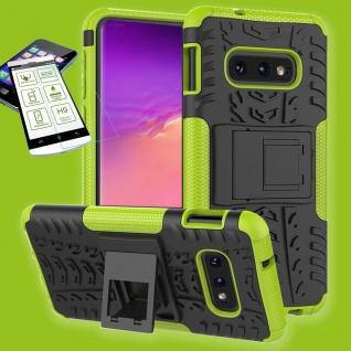 Für Samsung Galaxy S10e G970F Hybrid Tasche Outdoor 2teilig Grün + H9 Glas Etuis