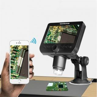 Digitales LCD Mikroskop + WiFi Connecting 1000x elektronisch Vergrößern Battery