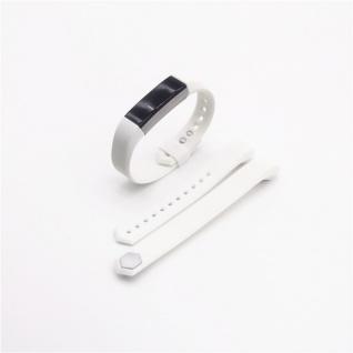 Für Fitbit Alta HR Kunststoff / Silikon Armband Männer / Größe L Weiß Uhr Watch