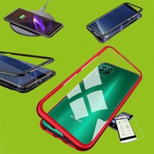 Für Samsung Galaxy M30s / M21 Magnet Handy Tasche Hülle Case Rot Etuis + H9 Glas