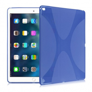 Schutzhülle Silikon X-Line Blau für Samsung Galaxy Tab S3 9.7 T820 T825 Tasche