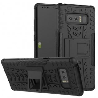 Hybrid Case 2teilig Outdoor Schwarz Tasche Hülle für Samsung Galaxy Note 8 N950F