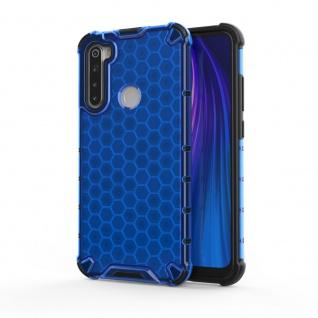 Für Xiaomi Redmi Note 8 Schock Hybrid Silikon TPU Blau Tasche Hülle Etuis Cover