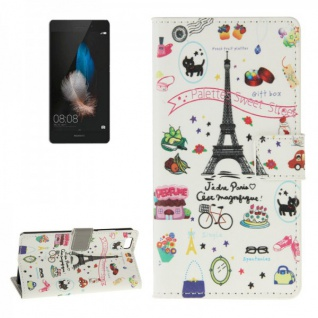 Schutzhülle Muster 43 für Huawei Ascend P8 Lite Bookcover Tasche Hülle Wallet