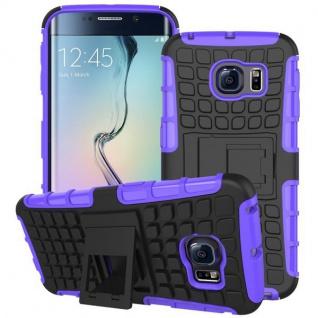 Hybrid Case 2 teilig Robot Lila für Samsung Galaxy S6 Edge G925 G925F Hülle Neu