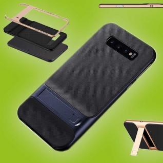 Für Samsung Galaxy S10 Plus Standing Hybrid Blau Tasche Etuis Hülle Outdoor Case