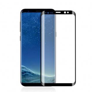 0, 3 mm H9 gebogenes Panzerglas Schwarz Folie für Samsung Galaxy S9 G960F Hülle