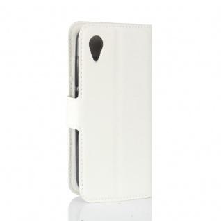 Tasche Wallet Premium Weiß für Wiko Sunny 2 Hülle Case Cover Etui Schutz Zubehör - Vorschau 3