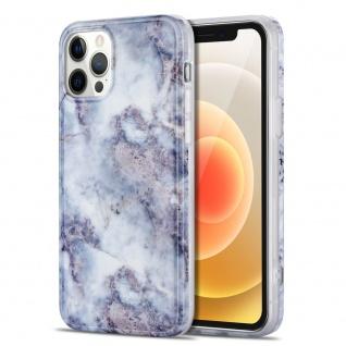 Für Apple iPhone 12 Mini Muster Silikon TPU Handy Tasche Hülle Hell Grau