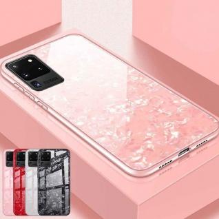 Für Samsung Galaxy S20 Ultra Color Effekt Glas Cover Pink Handy Tasche Etuis Neu