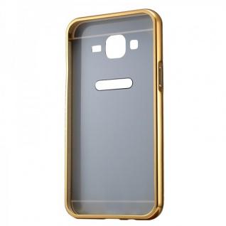 Alu Bumper 2 teilig Abdeckung Gold für Samsung Galaxy J1 Hülle Case Tasche - Vorschau 3