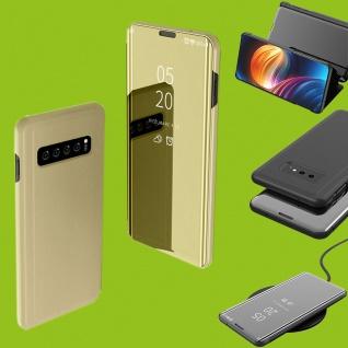 Für Samsung Galaxy S10 Lite / S10E G970F 5.8 Clear View Smart Cover Gold Tasche