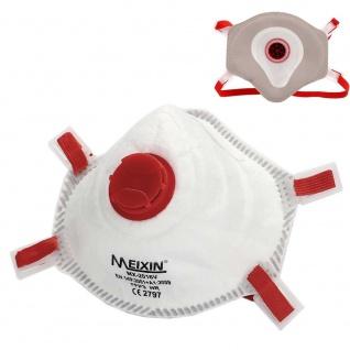 2x MEIXIN Hochwertige Atem Schutzmaske Atemschutzmaske FFP3 Schutz Maske Zubehör Neu