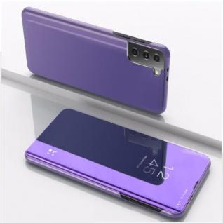 Für Samsung Galaxy S21 Plus View Smart Cover Hülle Lila Handy Tasche Etuis Case