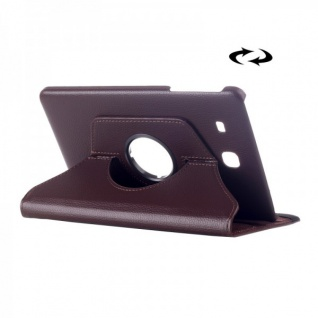 Schutzhülle 360 Grad Braun Tasche für Samsung Galaxy Tab E 9.6 SM T560 T561 Hülle