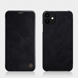 Schutzhülle Kunstleder Flipcase Cover für Apple iPhone 11 Schwarz Tasche Etui