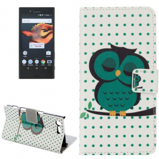 Tasche Wallet Premium Muster 15 für Sony Xperia X Compact F5321 Bookcover Hülle