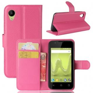 Tasche Wallet Premium Pink für Wiko Sunny 2 Hülle Case Cover Etui Schutz Zubehör