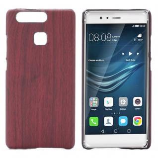 Hardcase Holz-Optik Dunkel Hülle für Huawei P9 Case Cover Tasche Neu Schutz Etui