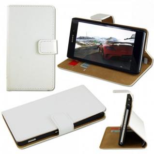 Tasche Wallet Weiss für Sony Xperia Z3 Compact D5803 Handy Case Hülle Zubehör