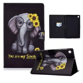 Für Lenovo Tab M10 Plus 10.3 Zoll X606F Motiv 7 Tablet Tasche Kunst Leder Etuis