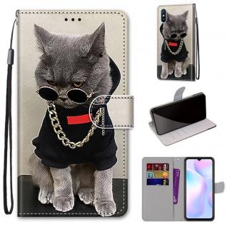 Für Xiaomi Redmi 9A Kunst-Leder Handy Tasche Motiv 2 Hülle Etuis Cover Schutz