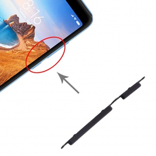 Für Xiaomi Redmi 7A Sidekeys Seitentasten Schwarz Ersatzteil Zubehör Reparatur