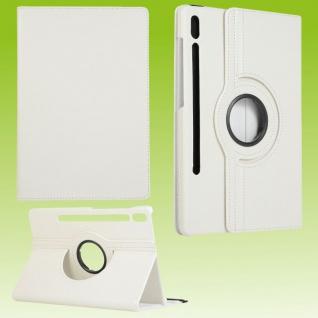 Für Samsung Galaxy Tab S7 T870 Tablet Tasche Hülle Case Etuis Schutz Weiß Cover